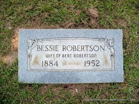 "ROBERTSON, NELLIE ELIZABETH ""BESSIE"" - Webster County, Louisiana 