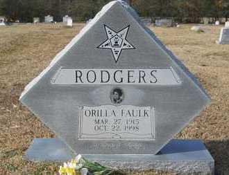 FAULK RODGERS, ORILLA - Webster County, Louisiana | ORILLA FAULK RODGERS - Louisiana Gravestone Photos