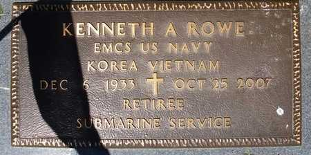 ROWE, KENNETH A (VETERAN 2 WARS) - Webster County, Louisiana   KENNETH A (VETERAN 2 WARS) ROWE - Louisiana Gravestone Photos