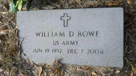 ROWE, WILLIAM D (VETERAN) - Webster County, Louisiana | WILLIAM D (VETERAN) ROWE - Louisiana Gravestone Photos