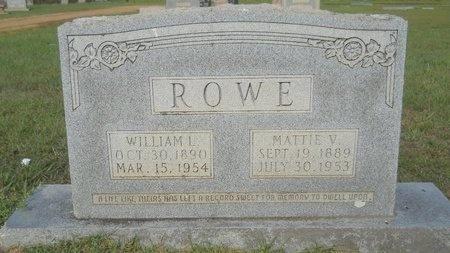 ROWE, WILLIAM L - Webster County, Louisiana | WILLIAM L ROWE - Louisiana Gravestone Photos