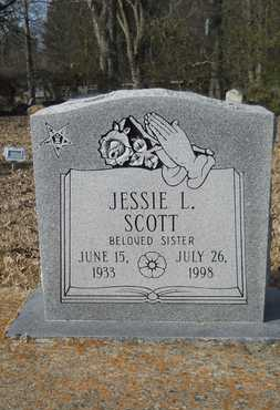 SCOTT, JESSIE L - Webster County, Louisiana | JESSIE L SCOTT - Louisiana Gravestone Photos