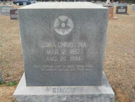 SIMMS, IZORA CHRISTINA - Webster County, Louisiana | IZORA CHRISTINA SIMMS - Louisiana Gravestone Photos
