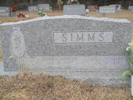 SIMMS, LUCIOUS ANTHONY - Webster County, Louisiana | LUCIOUS ANTHONY SIMMS - Louisiana Gravestone Photos