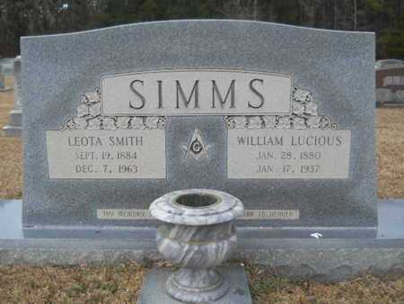 SIMMS, WILLIAM LUCIOUS - Webster County, Louisiana   WILLIAM LUCIOUS SIMMS - Louisiana Gravestone Photos