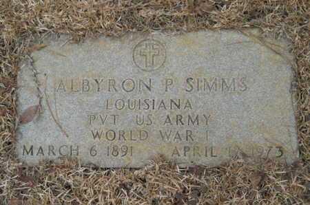 SIMMS, ALBYRON (VETERAN WWI) - Webster County, Louisiana   ALBYRON (VETERAN WWI) SIMMS - Louisiana Gravestone Photos
