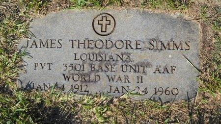 SIMMS, JAMES THEODORE (VETERAN WWII) - Webster County, Louisiana | JAMES THEODORE (VETERAN WWII) SIMMS - Louisiana Gravestone Photos