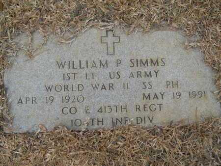 SIMMS, WILLIAM POMEROY (VETERAN WWII) - Webster County, Louisiana   WILLIAM POMEROY (VETERAN WWII) SIMMS - Louisiana Gravestone Photos