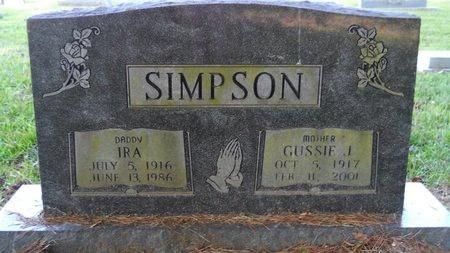 SIMPSON, GUSSIE - Webster County, Louisiana | GUSSIE SIMPSON - Louisiana Gravestone Photos