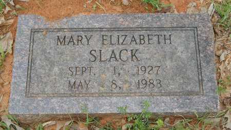 SLACK, MARY ELIZABETH - Webster County, Louisiana   MARY ELIZABETH SLACK - Louisiana Gravestone Photos