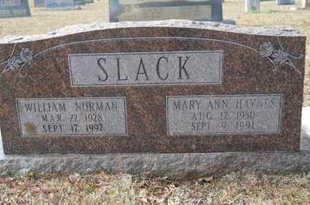 SLACK, MARY ANN - Webster County, Louisiana | MARY ANN SLACK - Louisiana Gravestone Photos