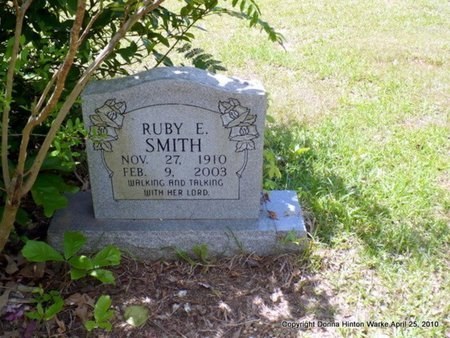 SMITH, RUBY E - Webster County, Louisiana | RUBY E SMITH - Louisiana Gravestone Photos