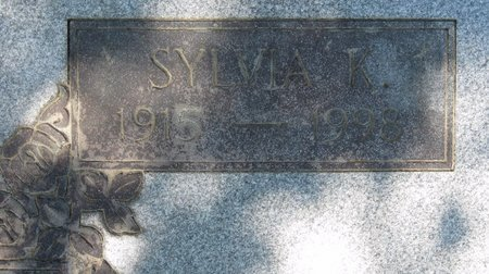 SMITH, SYLVIA K (CLOSE UP) - Webster County, Louisiana   SYLVIA K (CLOSE UP) SMITH - Louisiana Gravestone Photos