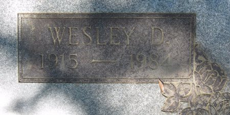 SMITH, WESLEY D (CLOSE UP) - Webster County, Louisiana | WESLEY D (CLOSE UP) SMITH - Louisiana Gravestone Photos