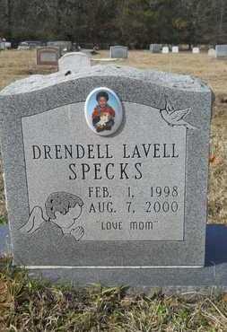 SPECKS, DRENDELL LAVELL - Webster County, Louisiana | DRENDELL LAVELL SPECKS - Louisiana Gravestone Photos