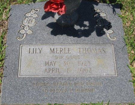 THOMAS, LILY MERLE - Webster County, Louisiana   LILY MERLE THOMAS - Louisiana Gravestone Photos