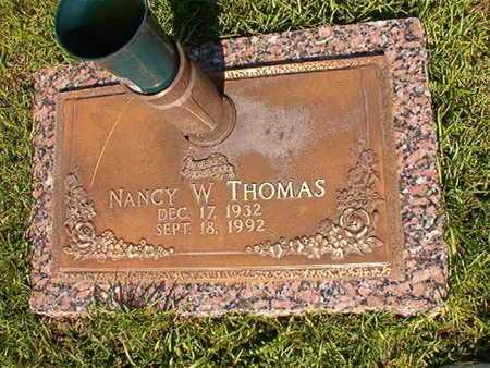 THOMAS, NANCY W - Webster County, Louisiana | NANCY W THOMAS - Louisiana Gravestone Photos