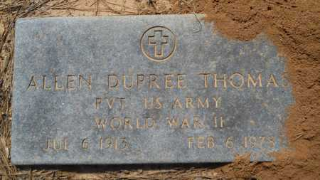 THOMAS, ALLEN DUPREE (VETERAN WWII) - Webster County, Louisiana   ALLEN DUPREE (VETERAN WWII) THOMAS - Louisiana Gravestone Photos