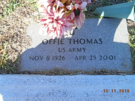 THOMAS  , OFFIE  (VETERAN) - Webster County, Louisiana   OFFIE  (VETERAN) THOMAS   - Louisiana Gravestone Photos