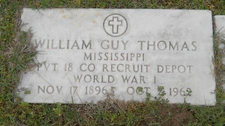 THOMAS, WILLIAM GUY (VETERAN WWI) - Webster County, Louisiana   WILLIAM GUY (VETERAN WWI) THOMAS - Louisiana Gravestone Photos