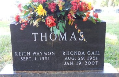 THOMAS, RHONDA GAIL - Webster County, Louisiana   RHONDA GAIL THOMAS - Louisiana Gravestone Photos
