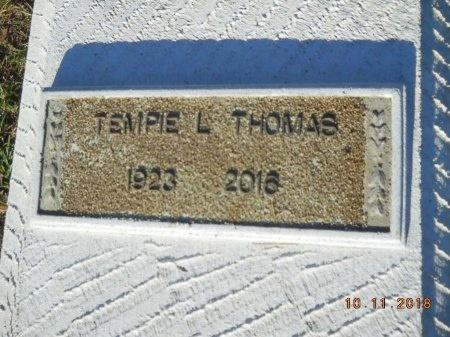 THOMAS, TEMPIE L - Webster County, Louisiana | TEMPIE L THOMAS - Louisiana Gravestone Photos