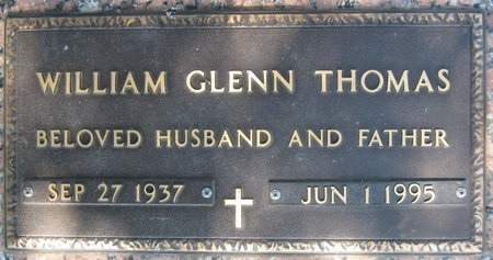 THOMAS, WILLIAM GLENN (CLOSE UP) - Webster County, Louisiana | WILLIAM GLENN (CLOSE UP) THOMAS - Louisiana Gravestone Photos