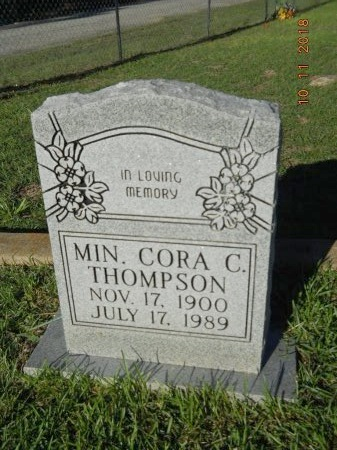 THOMPSON, CORA C, MINISTER - Webster County, Louisiana   CORA C, MINISTER THOMPSON - Louisiana Gravestone Photos