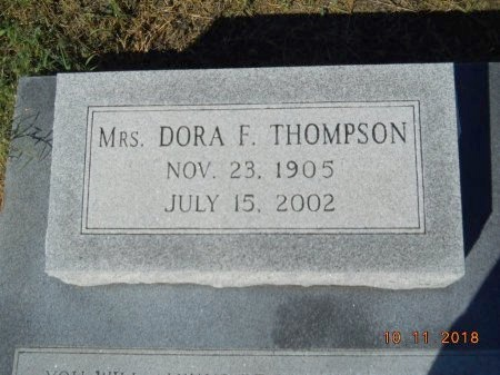 THOMPSON, DORA F - Webster County, Louisiana | DORA F THOMPSON - Louisiana Gravestone Photos