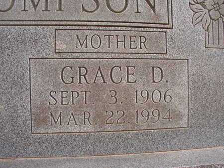 THOMPSON, GRACE D (CLOSE UP) - Webster County, Louisiana | GRACE D (CLOSE UP) THOMPSON - Louisiana Gravestone Photos