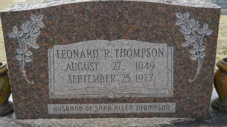 THOMPSON, LEONARD R - Webster County, Louisiana | LEONARD R THOMPSON - Louisiana Gravestone Photos