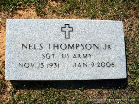 THOMPSON, NELS, JR (VETERAN ) - Webster County, Louisiana   NELS, JR (VETERAN ) THOMPSON - Louisiana Gravestone Photos