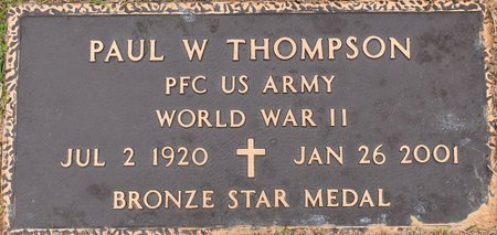 THOMPSON, PAUL W (VETERAN WWII) - Webster County, Louisiana | PAUL W (VETERAN WWII) THOMPSON - Louisiana Gravestone Photos