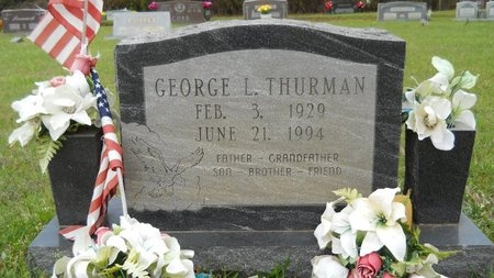 THURMAN, GEORGE L - Webster County, Louisiana   GEORGE L THURMAN - Louisiana Gravestone Photos
