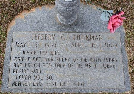 THURMAN, JEFFERY G - Webster County, Louisiana | JEFFERY G THURMAN - Louisiana Gravestone Photos