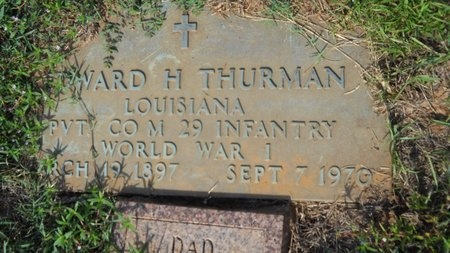 THURMAN, EDWARD HARRIS (VETERAN WWI) - Webster County, Louisiana   EDWARD HARRIS (VETERAN WWI) THURMAN - Louisiana Gravestone Photos