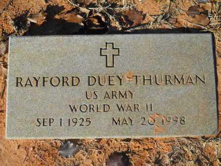 THURMAN, RAYFORD DUEY (VETERAN WWII) - Webster County, Louisiana | RAYFORD DUEY (VETERAN WWII) THURMAN - Louisiana Gravestone Photos