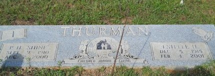 THURMAN, VERA ESTELLE - Webster County, Louisiana | VERA ESTELLE THURMAN - Louisiana Gravestone Photos