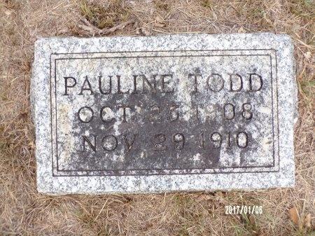 TODD, PAULINE - Webster County, Louisiana   PAULINE TODD - Louisiana Gravestone Photos