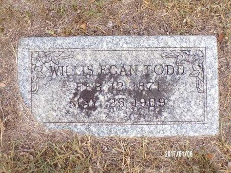 TODD, WILLIS EGAN - Webster County, Louisiana | WILLIS EGAN TODD - Louisiana Gravestone Photos