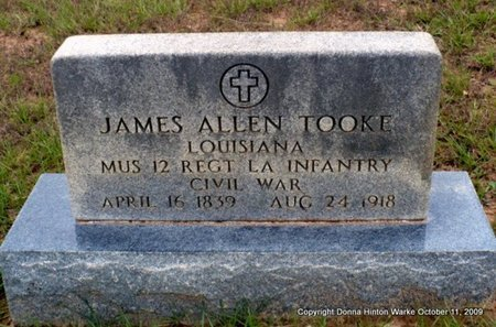 TOOKE, JAMES ALLEN (VETERAN CSA) - Webster County, Louisiana | JAMES ALLEN (VETERAN CSA) TOOKE - Louisiana Gravestone Photos