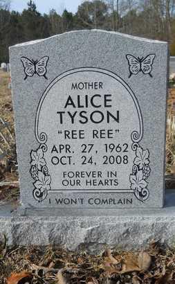 TYSON, ALICE - Webster County, Louisiana | ALICE TYSON - Louisiana Gravestone Photos