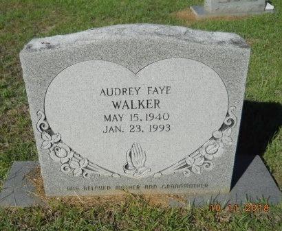 WALKER, AUDREY FAYE - Webster County, Louisiana   AUDREY FAYE WALKER - Louisiana Gravestone Photos