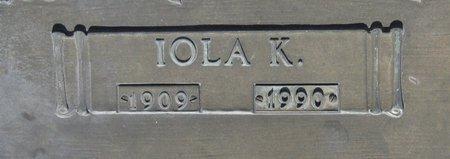 WALKER, IOLA K (CLOSE UP) - Webster County, Louisiana | IOLA K (CLOSE UP) WALKER - Louisiana Gravestone Photos