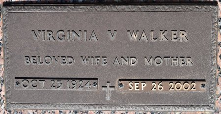 WALKER, VIRGINIA V (CLOSE UP) - Webster County, Louisiana | VIRGINIA V (CLOSE UP) WALKER - Louisiana Gravestone Photos