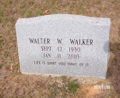 WALKER, WALTER W - Webster County, Louisiana | WALTER W WALKER - Louisiana Gravestone Photos