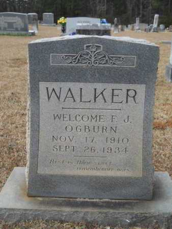 WALKER, WELCOME F J OGBURN - Webster County, Louisiana | WELCOME F J OGBURN WALKER - Louisiana Gravestone Photos