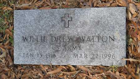 WALTON, WILLIE DREW (VETERAN) - Webster County, Louisiana   WILLIE DREW (VETERAN) WALTON - Louisiana Gravestone Photos