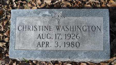 WASHINGTON, CHRISTINE - Webster County, Louisiana | CHRISTINE WASHINGTON - Louisiana Gravestone Photos