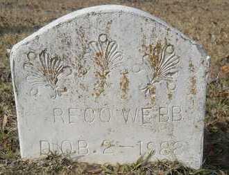 WEBB, RECO - Webster County, Louisiana   RECO WEBB - Louisiana Gravestone Photos